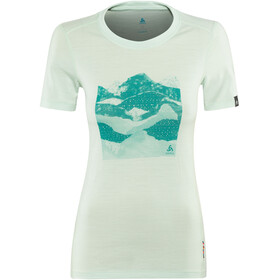 Odlo BL Alliance SS Top Crew Neck Women surf spray-collage print SS19